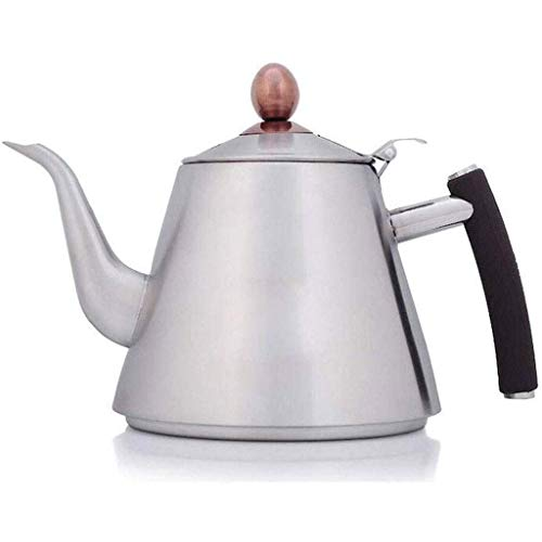 WECDS-E Tea Kettle - Teapot with Capsule Bottom and Mirror Finish, Tea Pot - Stove Top Tea Maker Infuser Teapots Strainer Included