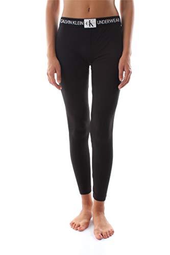 Calvin Klein Damen LEGGING Schlafanzughose, Schwarz (Black 001), 38 (Herstellergröße: M)