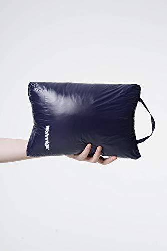 Wohnniger Daunen Decke Outdoor (blau), Maße 140x95x5, Kinderdecke, Umhang, Reisedecke, Schulterwärmer, Fußwärmer, 90% Daunen, 10% Federn …
