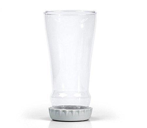 Uchic 1 pcs 453,6 gram Bottoms Up Long cou Hopped Up Verre à bière Bouteille en verre Upside Down Bouteille de bière Mug
