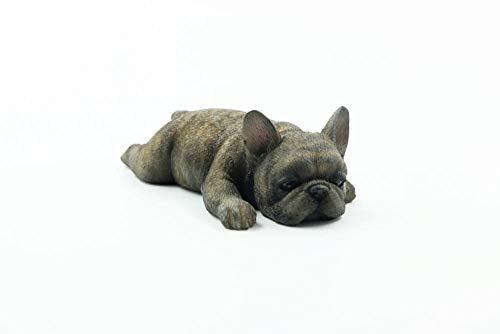 Ertyuk Ornaments Statues Sculptures French Bulldog Cute Sleeping Little Method Fighting Simulation Dog Model French Bulldog Lucky Car Decoration-E