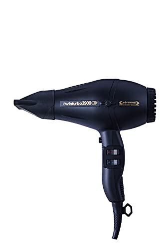 Turbo Power - Twin Turbo 3900 Black Advanced Hair Dryer with New...