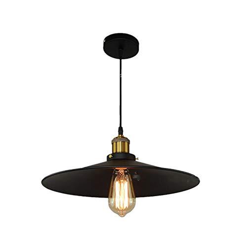 Openg Lampara De Techo Colgante Lampara Techo Comedor Colgante Luz Colgante Industrial Accesorio de luz Colgante Negro Sombras Negras para Techo 36cm