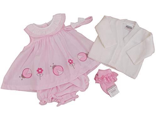 Robe d'été pour bébé avec étiquettes. - Rose - 4-6 ans