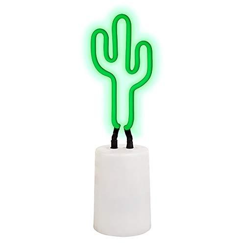 SunnyLIFE Lampe de bureau avec tube de figurine de lumière néon décorative d'intérieur avec variateur d'intensité réglable Petit Cactus