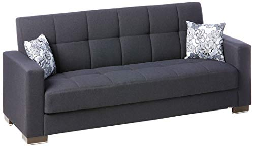 Ottomanson Sofa, 88 x 38 X 36, Dark Blue