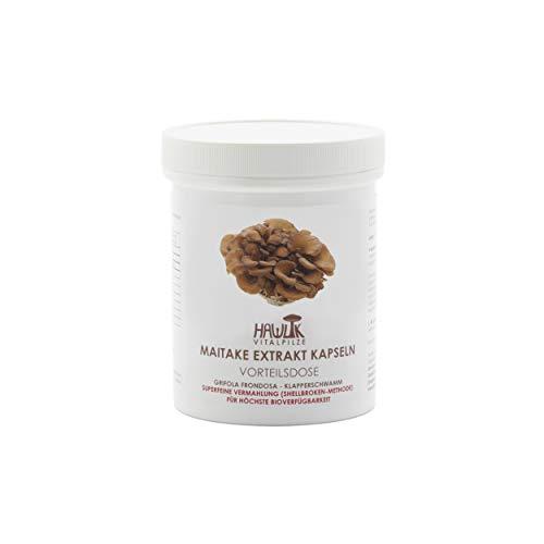 Hawlik Vitalpilze - Maitake Extrakt - 240 Kapseln - 300 mg Pilz-Extrakt - 40 mg Acerola Extrakt - 7mg Vitamin-C - Shellbroken