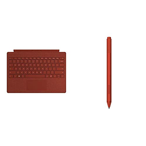 Microsoft Surface Pro Type Cover QWERTZ Keyboard mohnrot Surface Pen Mohnrot