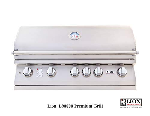 """Lion Premium Grills 90814 40"""" Propane Grill Electronics Features Grills Propane"""