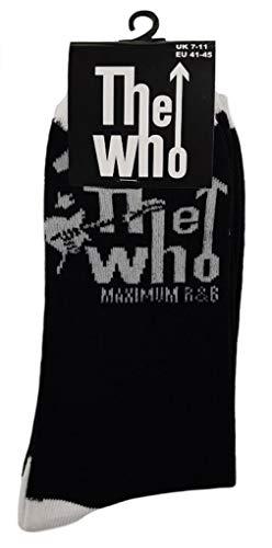 Rock Off The Who 'Maximum R&B' (Noir) Chaussettes (Taille unique = EUR 41-45)