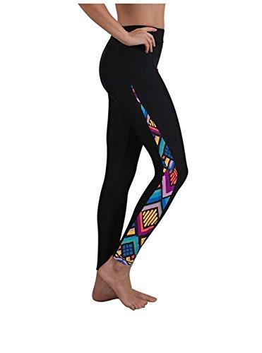 Women's Long Swimming Pants Swim Tights Elastic Leggings Floral L