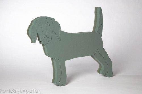 STANDING DOG Design erhältlich **Oasis Foam Blumen-Motiv (englischsprachig),