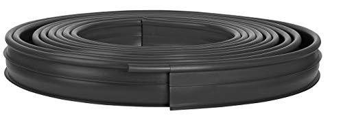 Suncast Professional Landscape Edging Roll with Double Ridge Design, 60' Coil, Black