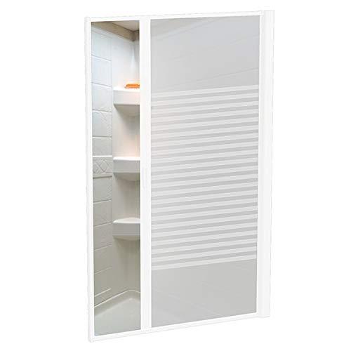 """Nautilus 67""""x36"""" Round RV Shower Door Opaque Stripe - White"""