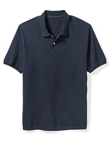 Amazon Essentials Men's Big & Tall Cotton Pique Polo Shirt fit by DXL, Navy, 5XLT