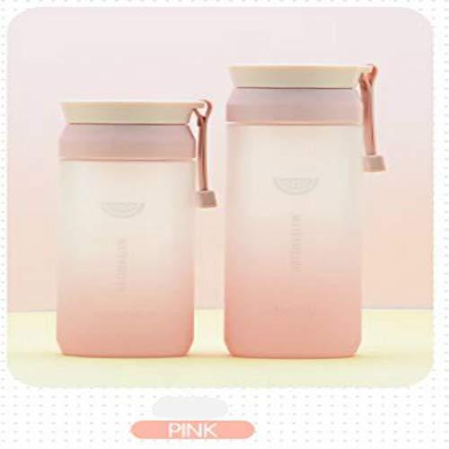 MSNLY Creative Gradient Color Space Cup Givré en Plastique Gobelet d'eau Silicone Portable Sports de Plein Air Portable Tasse