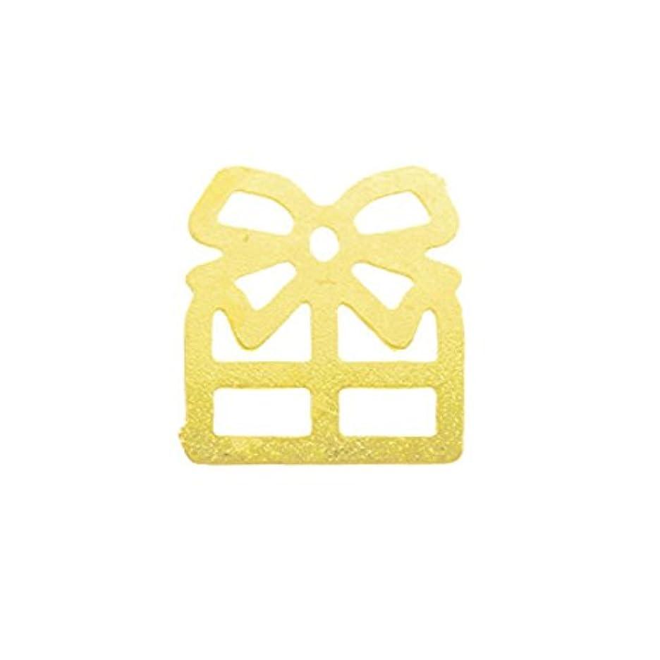 アトミック任意更新するメタルプレート(ネイルストーン デコ) プレゼント ゴールド (30個入り)(ネイル用品)