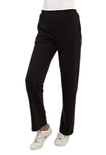 hajo Freizeithose Sporthose Trainingshose Jogginghose Sweathose Damen Farbe schwarz Größe 50