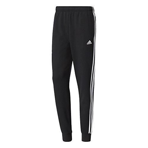 adidas Herren Hose Essentials 3-Stripes Tapered Cuffed Fleece, Black/White, L, BR3696