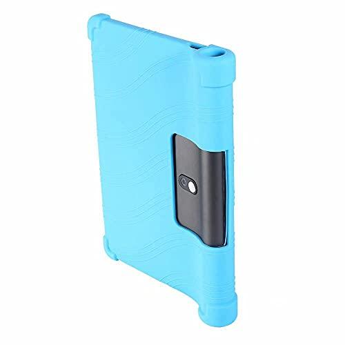 Funda Soft Silicon para Lenovo Yoga TAB5 YT-X705F Cubierta de Goma para la Tableta para 2019 Lenovo Yoga Tab 5 X705 Piel Protector Capa Funda-Caja de Litchi