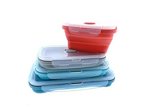 Home Creation Frischhaltedose Brot Dose Lunchbox Aufbewahrungsbox für 4X (blau, türkis,rot)