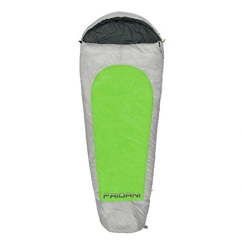 Fridani XL Kinderschlafsack MG 175x70 cm Mumienschlafsack -19°C Grün warm wasserabweisend waschbar