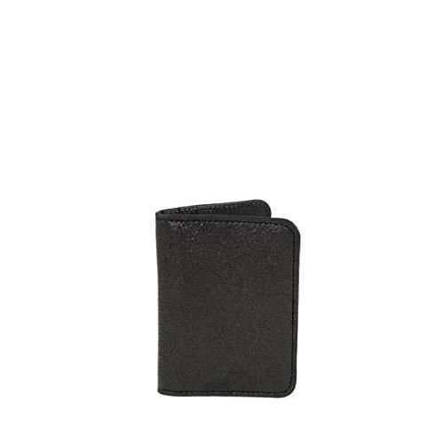 C-oui Bristol 39 - Porta carte in pelle lavata, colore: Nero