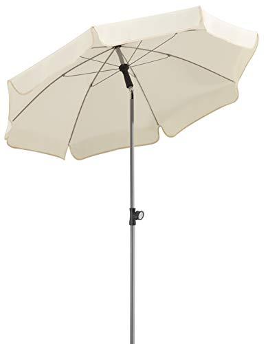 Schneider Sonnenschirm Locarno, natur, 150 cm rund, Gestell Stahl, Bespannung Polyester, 2 kg