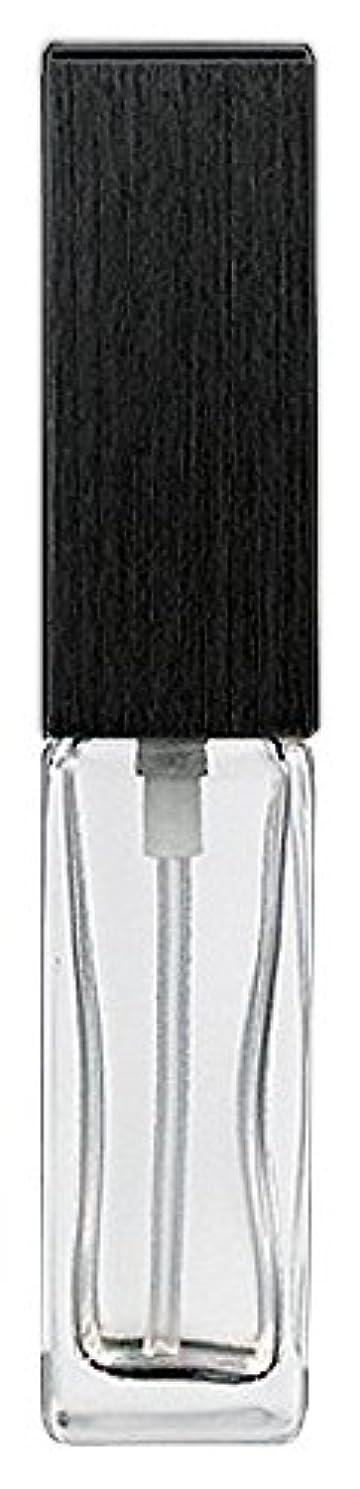最小化する残酷威信16494 メンズアトマイザー 角ビン クリア キャップ ヘアラインブラック