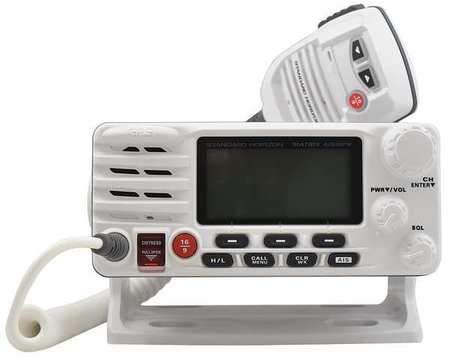 Two-Way Radio, White, 6-3/10inLx7-1/10inW