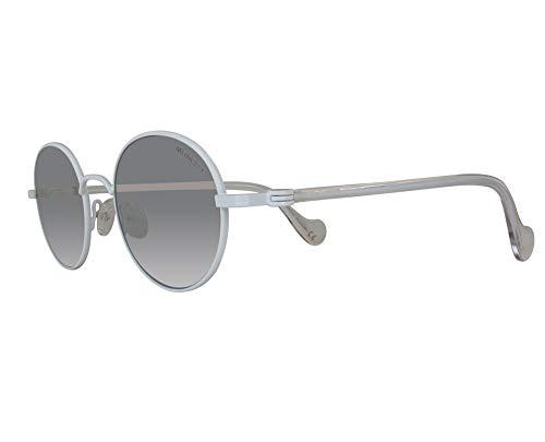 MONCLER ML0057 21C 49 Gafas de sol, Blanco (Bianco/Fumo Specchiato), Unisex Adulto