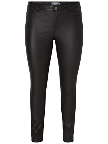 Junarose NOS Damen JRFIVE NW EXTRASLIM Coated K NOOS Slim Jeans, Schwarz (Black Black), (Herstellergröße: 40)