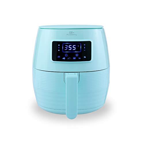 Kitchen Academy Air Fryer (50 Recipes), 5.5 Qt Electric Hot Air Fryers XL Oven Oilless Cooker, 7 Cooking Preset, LED Digital Touchscreen,Nonstick Basket,ETL/FDA Listed,1400W, Aqua