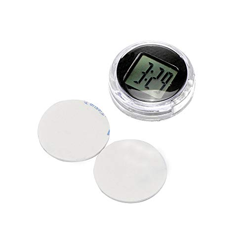 ONEVER Motorcycle Clock, Waterproof Stick-On Motorbike Mount Watch Digital Clock, 1.1 Diameter