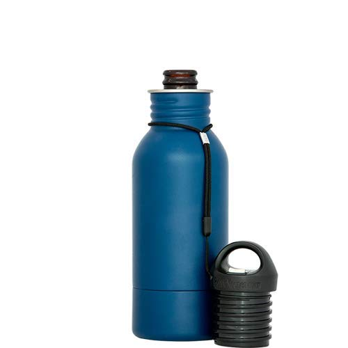 BottleKeeper - The Stubby 2.0 - The Original Stainless Steel Bottle Holder and Insulator to Keep Your Beer Colder (Blue)