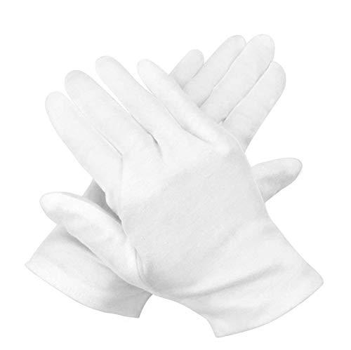 12 Paar Baumwollhandschuhe weiße,weiße handschuhe baumwolle,baumwollhandschuhe arbeitshandschuhe,stoffhandschuhe,weiße handschuhe für tägliche arbeit,handschuhe für hautpflege,handschuhe baumwolle