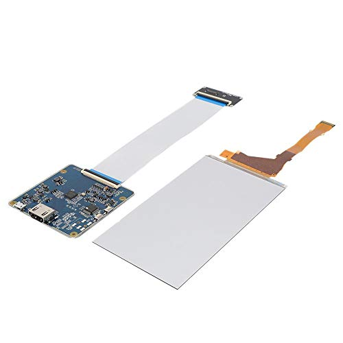 Kafuty 5.5 Inch 3D Printer Drive Board Photocuring LCD Display LS055R1SX04 1440 (RGB) x 2560 (quad-hd) with HDMI to MIPI Driver Board for 3D Printer for VR