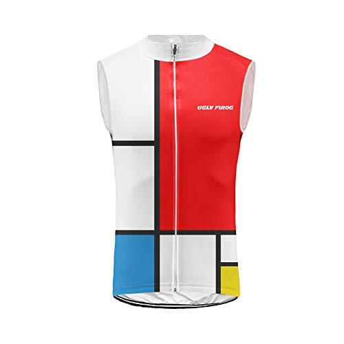 Uglyfrog Chaleco Hombre Cycling Jersey Maillot Ciclismo Sin Mangas Camiseta de Ciclistas Ropa Ciclismo VEX01