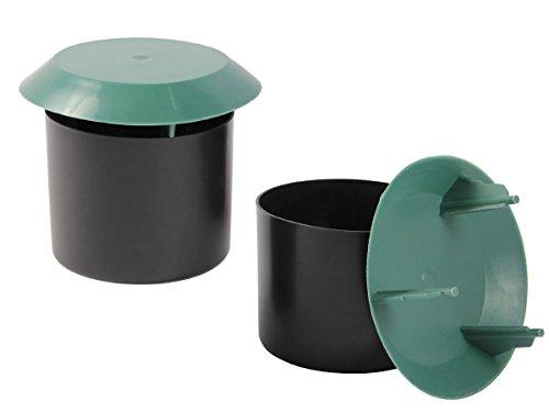 Alsino Trappola per lumache Biologica 8,5 cm Set di 2 Nero Verde P086/556 Non inquinante