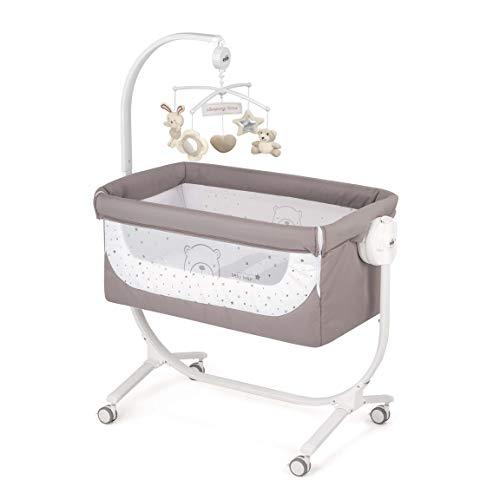 CAM 2 in 1 Beistellbett & Babywiege CULLAMI | höhenverstellbares Babybett | praktisch & schön| hochwertige Materialien - Made in Italy | flexibler Stubenwagen (Bärchen braun)