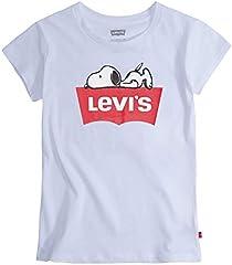 Levi's Batwing - Camiseta para niña, Rosa, 100% Algodón