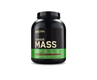 Optimum Nutrition Serious Mass Weight Gainer Protein Powder, Vitamin C, Zinc and Vitamin D for Immune Support, Chocolate, 6 Pound (Packaging May Vary) from Glanbia Performance Nutrition