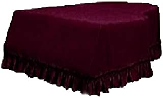 Fenteer Grand Piano Velvet Decorated Covers for - Burgundy, as described