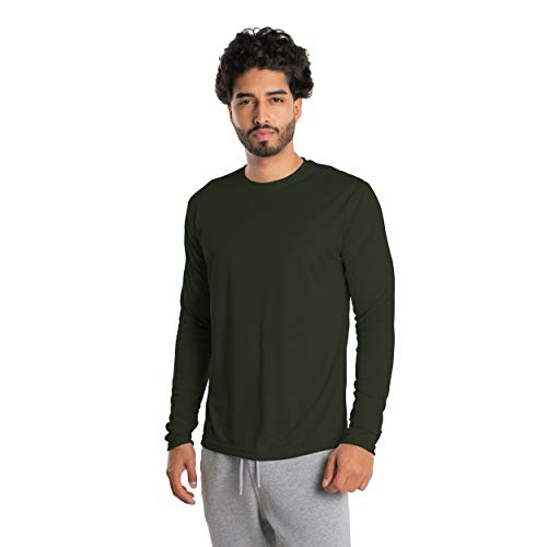 Vapor Apparel Men's UPF 50+ UV Sun Protection Long Sleeve Performance T-Shirt for Sports and Outdoor Lifestyle, XXXX-Large, Hunter Green
