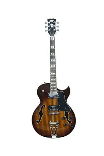 ivy IJZ-300 TSB Jazz Solid-Body Electric Guitar, Tobacco Sunburst