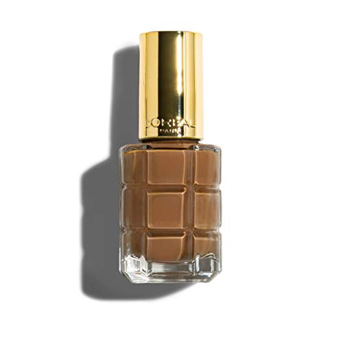 L'Oréal Paris Color Riche Le Vernis Nagellack mit Öl in Gold / Pflegender Farblack in Braungold mit Glanz-Effekt /# 662 Moka Chic / 1 x 14ml