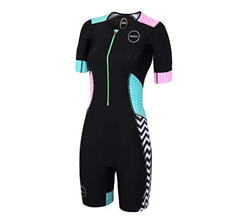 ZONE3 Activate Plus SS Trisuit Damen Zebra Fly-Black/Green/pink/White Größe S 2019 Triathlon-Bekleidung