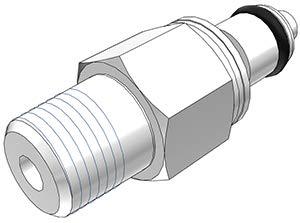 1//4 Flow Coupler x 3//8 Barb Coupler Colder PLCD16006 Acetal Tube Fitting Shutoff Panel Mount