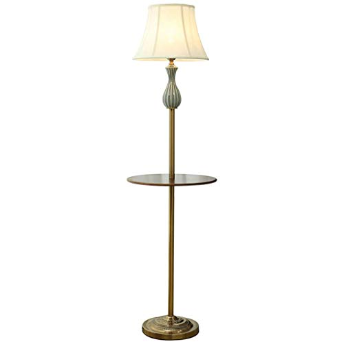 YQGOO Lámpara de pie Lámpara de pie Moderna Simple con Mesa de Centro Luz de Suelo Bandeja de Almacenamiento para Sala de Estar Lámparas de pie Estudio Dormitorio Cama