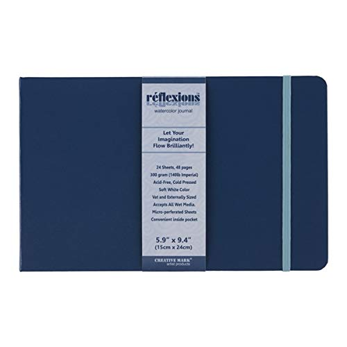 Creative Mark Watercolor Sketchbook Journal - Watercolor Paper - Acid Free, Mixed Media and Travel Friendly - 140lb Cold Pressed, Micro Perforated White Sheets - 24 Sheets (48 Pages);
